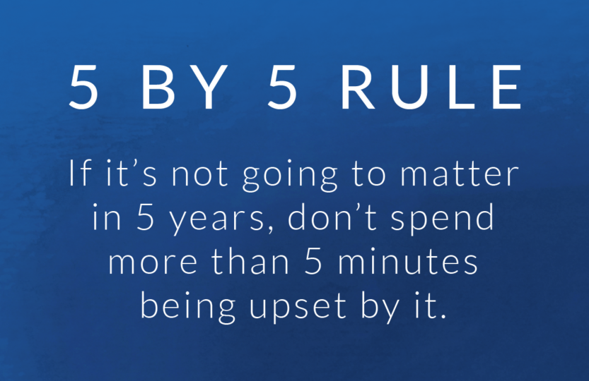 If it's not going to matter in 5 years, don't spend more than 5 minutes being upset by it.